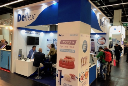 Deflex team at IDS 2019, Germany.